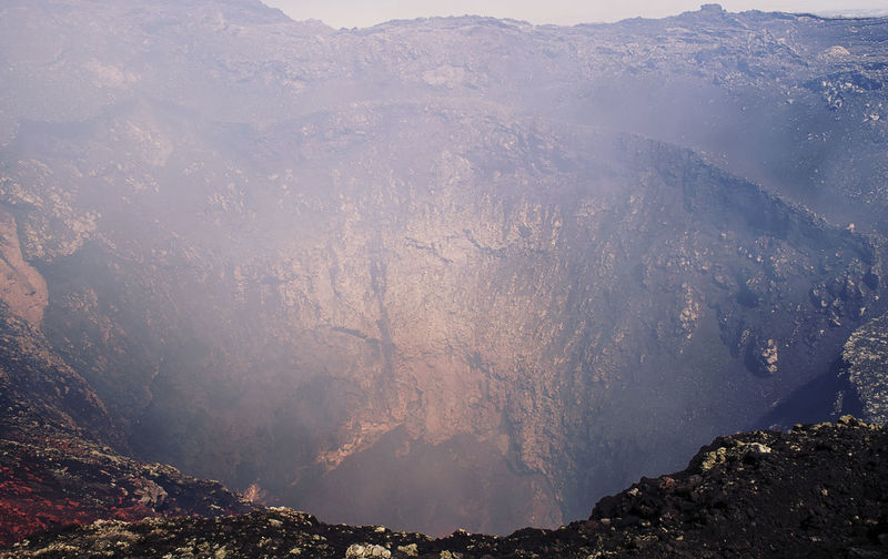 High Angle View Of Volcano Crater
