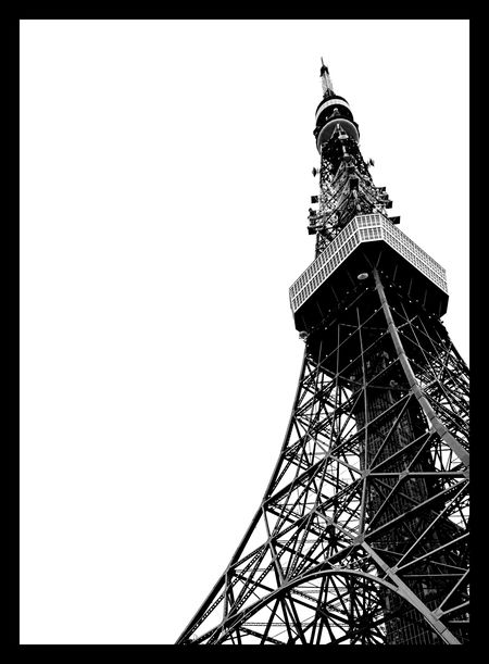 Tokyo Tokyo Tower Japan Getting Inspired Black And White