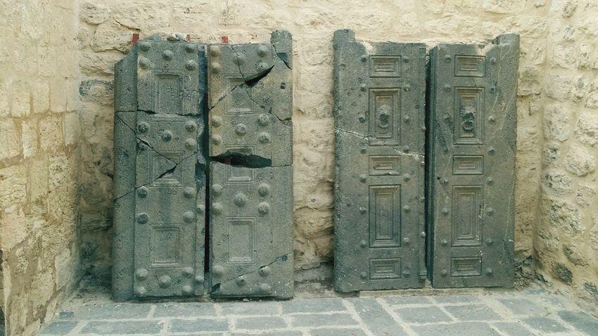 Stone Door Um Qais Irbid Museum Today :) Taking Photos EyeEm