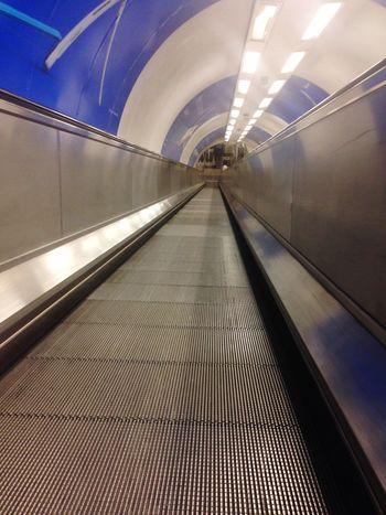 London Underground Escalator Waterloo Station