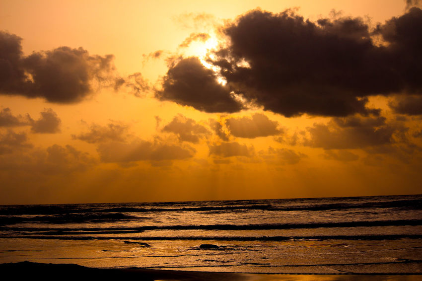 Sunset Sky Clouds Sea Beach Sky Orange Sun No People Silhouette Outdoors Sunset Beauty In Nature Landscape Day Beach Hut BeachHouse Beachscape Beachview Beachwalk Beachphotography Beach Photography Beach Life Beachlife Beach Day