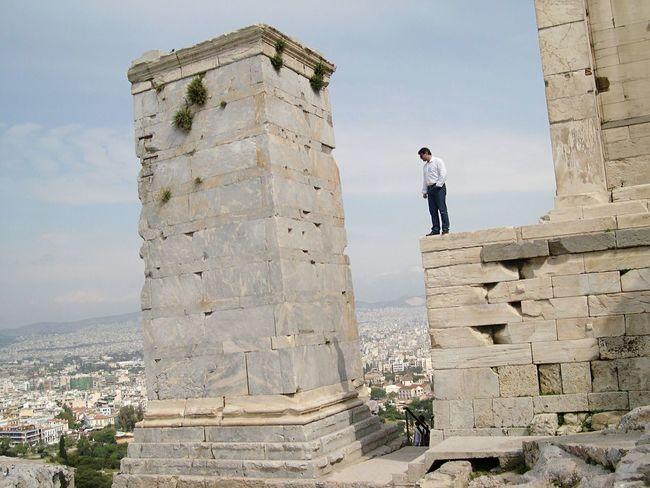 Sightseeing Parthenon Acropolis Greece 2004