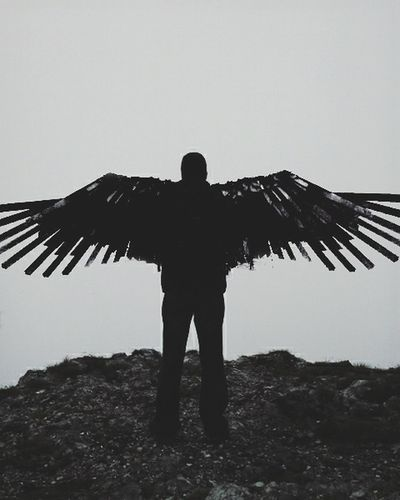 Dad Sky Devil Angel Photo Nature Double Exposure