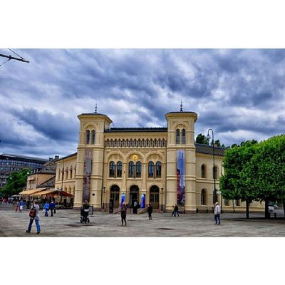 Politically speaking Noble peace center under the dark clouds of biasedness Oslo Norway NoblePeacePrize DarkFigure DarkClouds building Archeticture noble Trees @visitoslo
