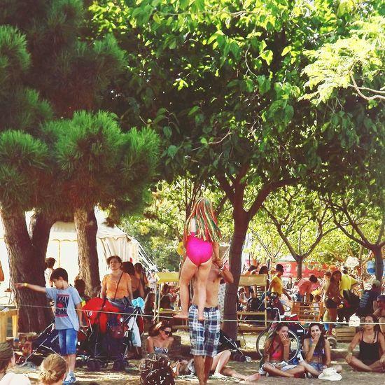 Rototomsunsplash Slackline Reggae Festival Goodvibes Amazing Place Happykids Slakelinechild