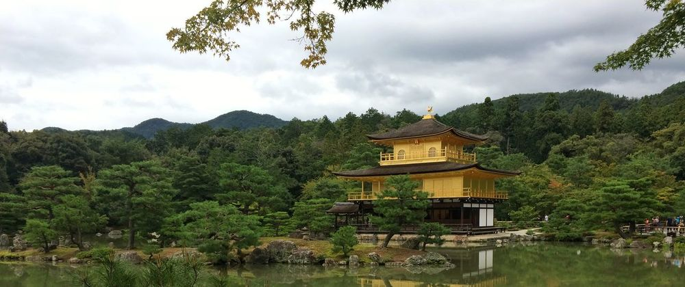 Architecture Buddha Built Structure Cloud - Sky Cultures Day Gold Gold Colored Golden Golden Pavilion  Mountain No People Outdoors Pagoda Place Of Worship Religion Roof Sky Spirituality Tourism Tradition Travel Travel Destinations Tree Zen