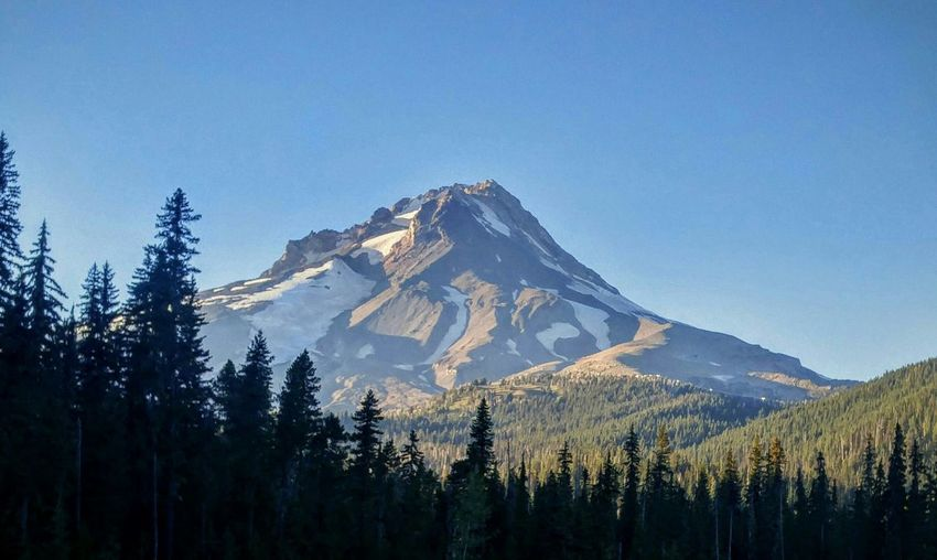 Mt. Hood  Oregon EyeEm Best Shots Eye 4 Photography Landscape Check This Out Catch The Moment Natural Colors Beauty In Nature Vivid Colors No People Outdoor Photography My View Nature No Filters Or Effects Silhouette And Sky Blue Sky Mountain View Mountain_collection Pacific Northwest  PNW