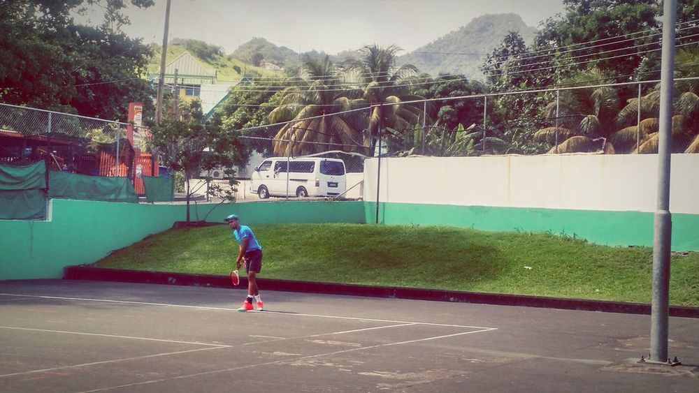 Practicing up some Tennis Backonthecourt Kingstown Saint Vincent St. VincentSaint Vincent And The Grenadines