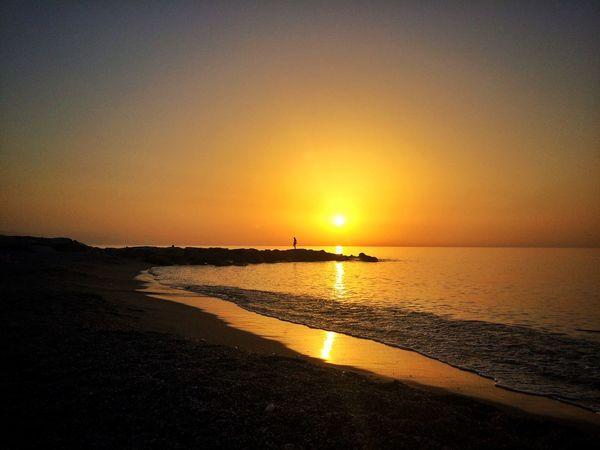 Sicily Mare Sunset Capo D'Orlando Tramonto