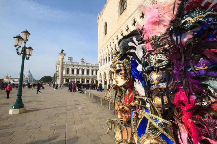 Venetian carnival mask shop in Venice, Italy Carnival Shopping Venetian Venice, Italy Architecture City Colorful Commerce Costume Decoration Europe Fashion; Festival Hand Made Italy Mask Masquerade Merchants Mystery Shop Souvenir Tourism Travel Destinations Venetian Mask