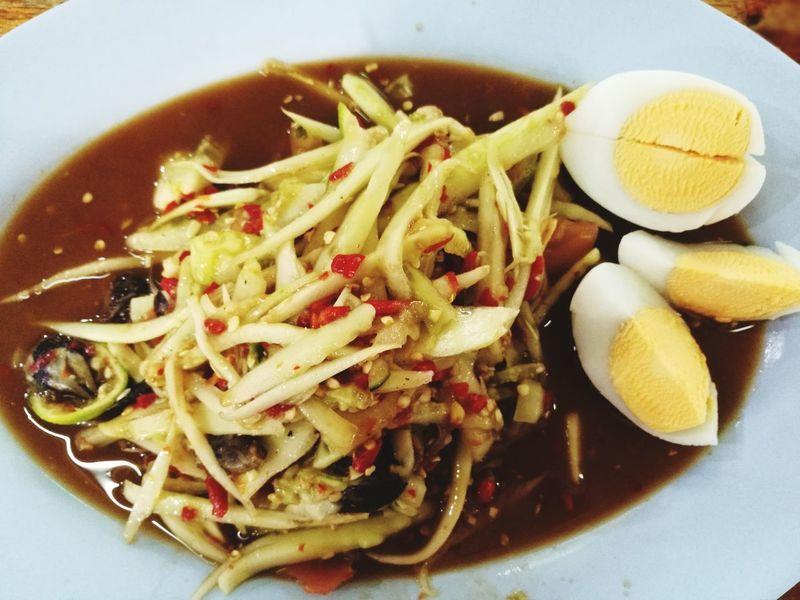 Somtum Somtum Pu-plarha Food Foodstagram Thai Thaifoods Spicy Spicyfood Lpfoodanddrink Lpshots Lpvisithere