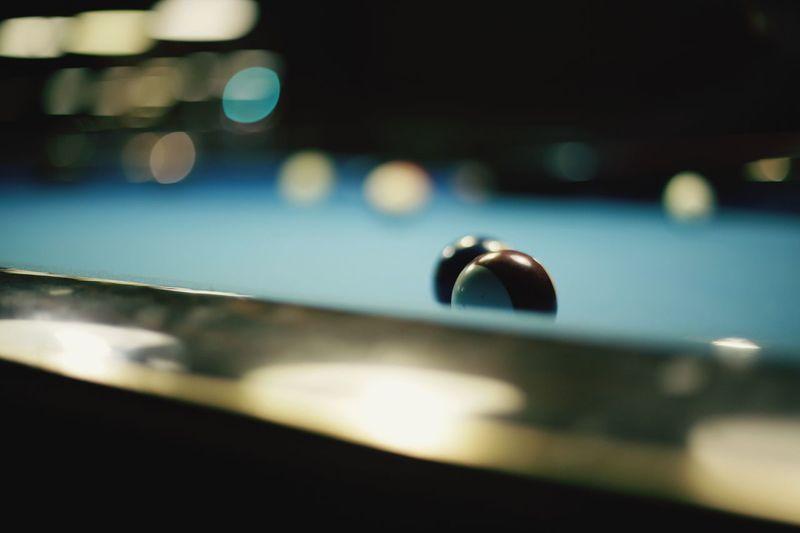 Pool balls on a