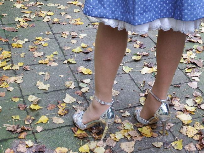hot shoes for a hot night Oktoberfest Autumn High Heels Human Body Part Human Foot Human Leg One Person Outdoors Shoe Standing Women