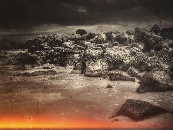 Landscape Stones The Dark Landscape Dark Landscape