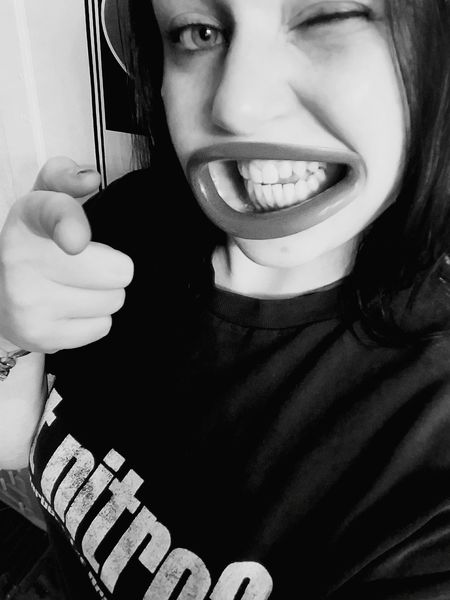Stunning Funny Lips Great Lips Laugh Blackandwhite Yes Personality  Personality Picture Attitude Spark Fabulous Trendy Statement Whatyouupto Heytroublewhatsup Fashionstatement Mmmm Mmmm <3