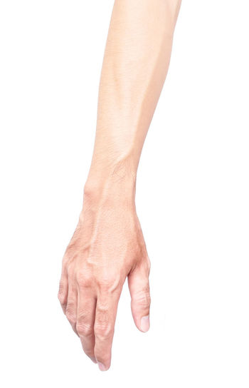 Man arm with blood veins on white background, health care and medical concept Injection Man Medicine Anatomy Anlysis Arm Blood Forearm Health Care Human Body Part Human Hand Medical Muscle People Veins
