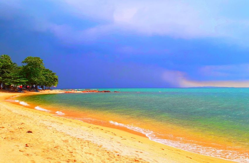sea Thailand🇹🇭 Thailand 2018 Day Beuty In Natrut Tree Water Sea Beach Multi Colored Wave Sand Beauty Summer Blue My Best Travel Photo EyeEmNewHere