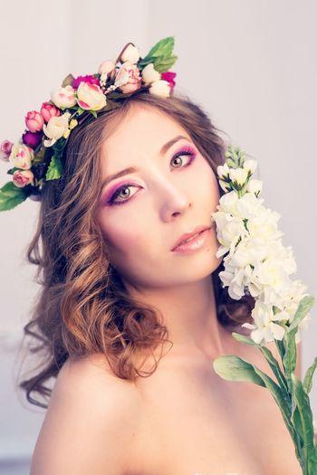 Gerl Butiful Portrait Russian Make Up