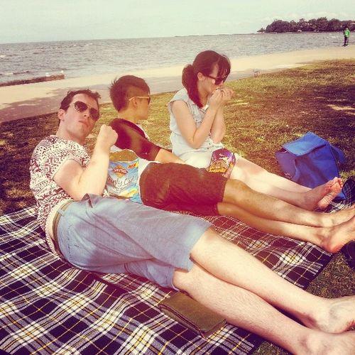 Christmas time at sandgate beach