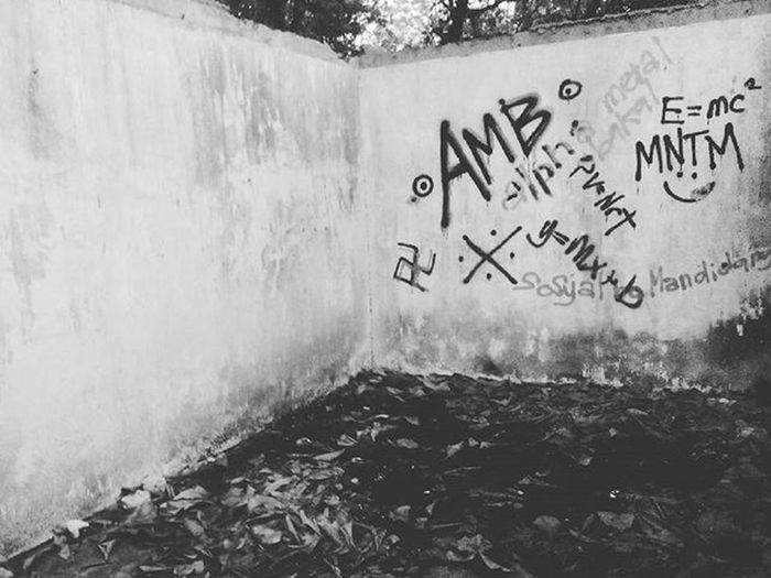 Found these vandals at an unfinished and abandoned restaurant by the beach. haha. Even Math Wizards can be rule breakers. Haha. Y=mx+b , E = mc^2 haha Escapade DDBlack Ddblacknwhite DDBxW Iger Vscocam Vscocamph VSCOPH