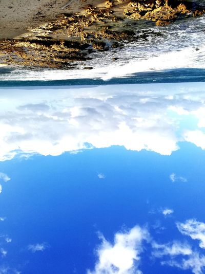 Water Nature Reflection Beauty In Nature Cloud - Sky Blue Sea