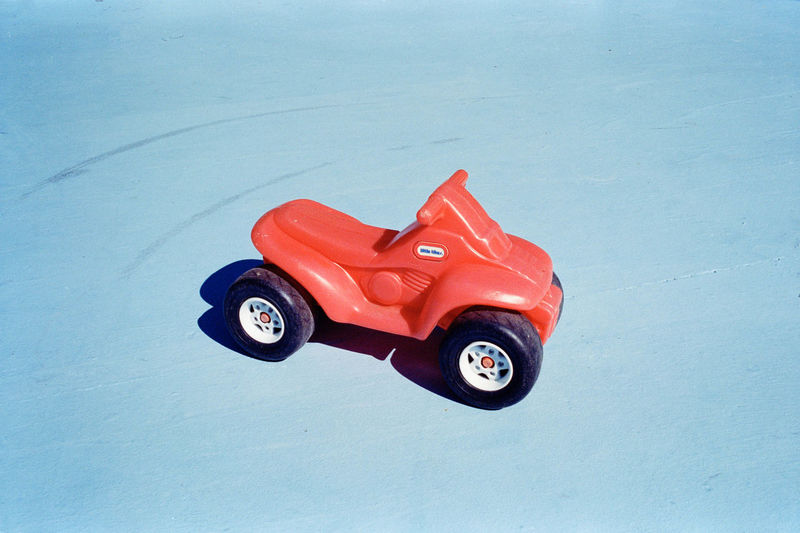 Childhood Red Toy Car Toy Car No People Day Close-up Outdoors