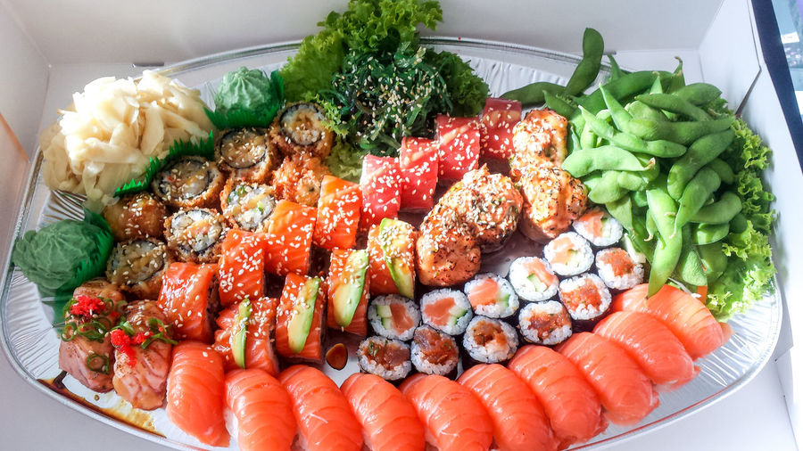 Snack Sushi Asian Food Close-up Food Food And Drink Freshness Healthy Eating Japanese Food Seafood Tasty Vegetable