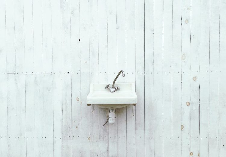 Sink On Wooden Wall