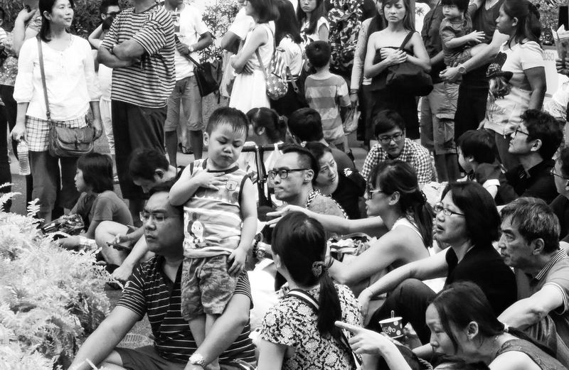 All About Me Kids The Human Condition Selfish Asian Culture Cool Crowd Black And White HTC_photography HTC One Singapore View Open Edit