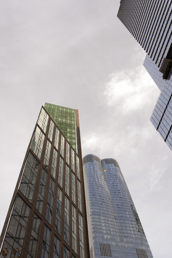 New and modern skyscrapers and buildings in NYC Architecture Building Exterior Built Structure Building Sky Low Angle View City Office Tall - High Office Building Exterior Cloud - Sky Modern Tower Nature Skyscraper No People Day Glass - Material Reflection Outdoors Financial District  Directly Below