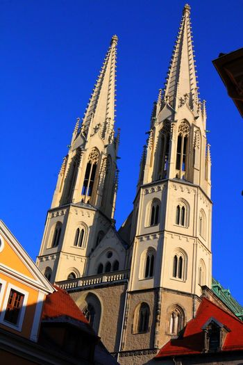 Altstadt Architecture Building Exterior Built Structure Church Clear Sky Denkmal Kirche Low Angle View No People Outdoors Place Of Worship Religion Sachsen Schlesien Spirituality Tower Türme