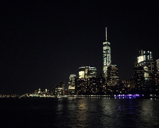 New York! On A Boat New York Skyline Cities At Night Travel Travel Photography Night Financial District  City Life Cityscapes