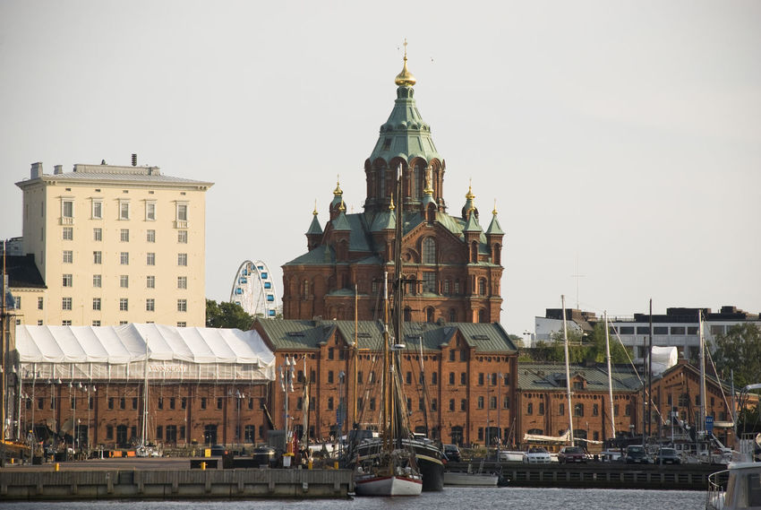 Architecture Building Exterior Built Structure City City Life Cityscape Finland Helsinki No People Nordic Outdoors Scandinavia Travel Travel Destinations Urban Skyline Uspenski Cathedral Uspensky Cathedral