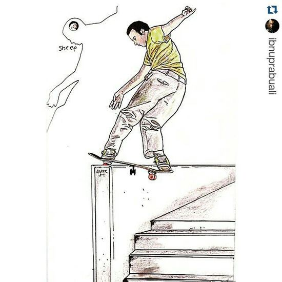 Repost @ibnuprabuali with @repostapp ・・・ Instasize Art Illustration Drawing Draw Picture Photography Artist Sketch Sketchbook Paper Pen Pencil Artsy Instaart Gallery Masterpiece Creative Instaartist Graphic Graphics Artoftheday Skater Sk8er skateboard skateboarder skateboarding