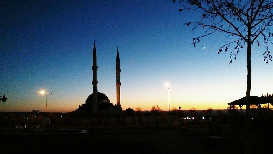 Camii Huzur Akşam üstü Gün Batımı✴ Sunset Sky Astronomy No People Mosque Turkey