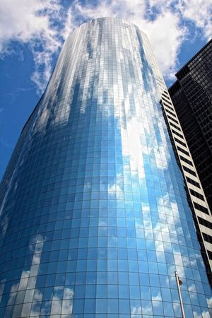 New York Sky And Clouds Architecture Architecture Blue Mirror Mirror Reflection