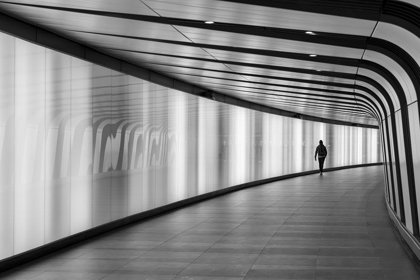 Light Wall Black & White Black And White Bw Bw_collection EyeEm Best Shots - Black + White EyeEm LOST IN London King's Cross, St Pancras International Leading Lines London Modern Pattern Patterns Silhouette Silhouette_collection Silhouettes Tunnel Underpass Unrecognizable Person Urban The Week On EyeEm Your Ticket To Europe Postcode Postcards Black And White Friday AI Now EyeEm Ready   #urbanana: The Urban Playground A New Beginning
