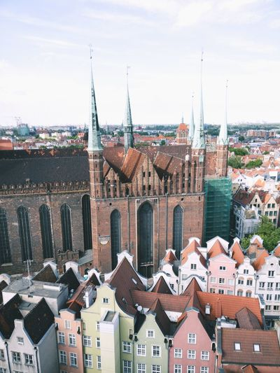 Roof House Architecture Town Building Exterior Cityscape Residential Building History City Travel Destinations Downtown District Pastel Colored Sky Outdoors Day Gdansk Gdansk (Danzig) Gdansk, Poland