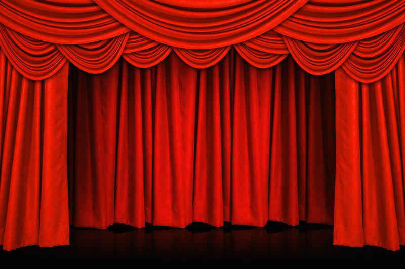 Red curtains and wooden stage floor. Red Curtain Stage Floor Background Theater Curtains Wooden Theatre Spotlight Wood Show Cinema Wall Presentation Backdrop Fabric Fame Light Design Performance Opéra MOVIE Art Decoration Event Entertainment Concert Interior Velvet Decor Frame Elégance Luxury Entrance