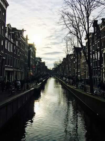 Afternoon Amsterdam Reflection