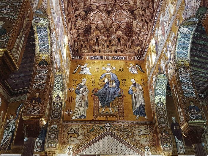 Hidden Gems Cultures History Historical Building Church Gold Gold Colored Architecture Architecture_collection Mosaic Travel Destinations Travel Photography Visititaly Italy Sicily Siciliabedda