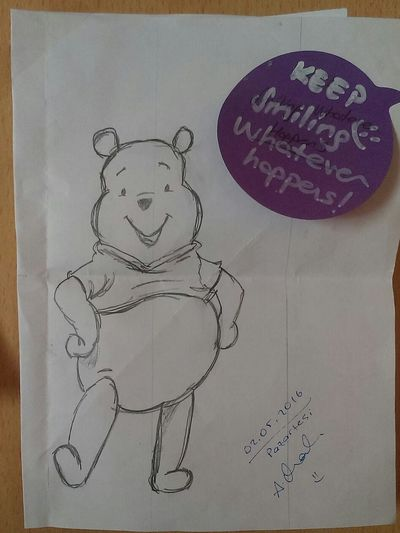 Winndy The Pooh Cartoon Characters By My Friend This Picture Was Drawn My Note Happy :) Enjoying Life Felicific For Me :)