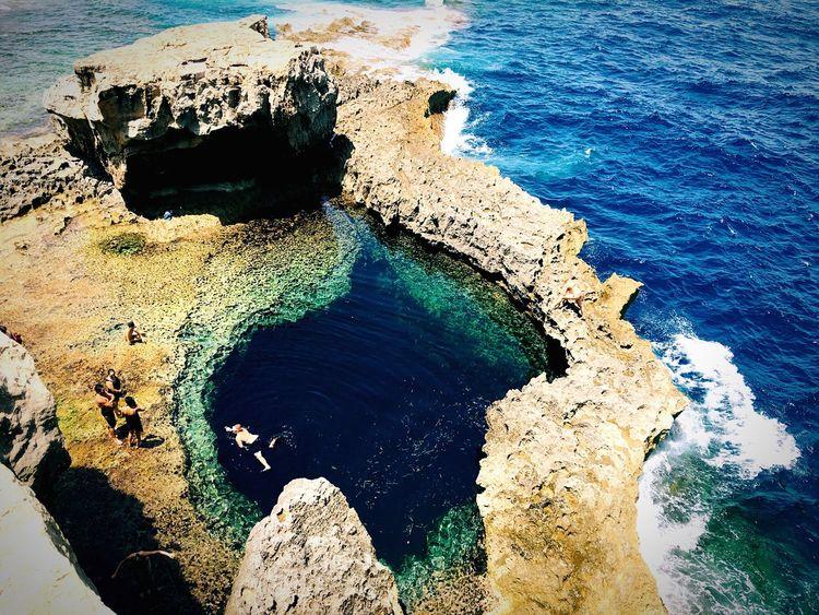 A Bird's Eye View TheMinimals TheMinimals (less Edit Juxt Photography) Sea Hole Bluehole Malta Visitmalta Summer Summertime Sea