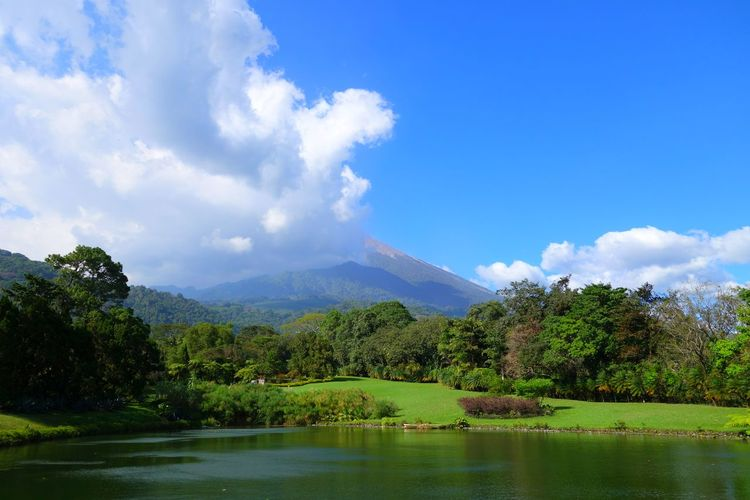 Hello World Relaxing Enjoying Life Volcano Guatemala Central America Landscape