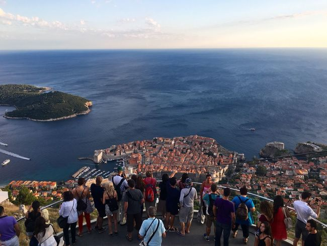A Bird's Eye View tourists Porch Travel Tourism Multiple People Dubrovnik, Croatia Landscape Ocean View Panorama Viewing Platform Shooting Strangers Snap a Stranger Miles Away Neighborhood Map The Photojournalist - 2017 EyeEm Awards Neighborhood Map The Street Photographer - 2017 EyeEm Awards Live For The Story Lost In The Landscape Connected By Travel