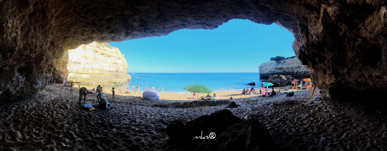Heaven Door Beauty In Nature Photography Algarve EyeEm Best Shots Bestoftheday Travel Destinations Landscape Sea Water Beach Land Sky Nature Horizon Over Water Beauty In Nature Scenics - Nature Cave Day Tranquil Scene