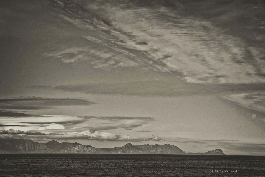 Cape Town False Bay Panaroma South Africa Spectacular Clouds And Sky