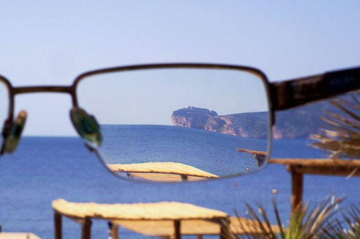 Clear Vision  Clear Sky Focus On Foreground Nature No People Outdoors Through Glasses Tranquility Vacation Water