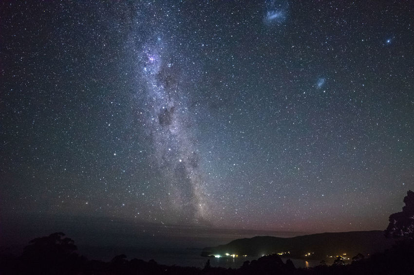 Milky Way over Pirates Bay Galactic Core Airglow Astronomy Beauty In Nature Constellation Environment Galactic Center Galaxy Idyllic Infinity Milky Way Nature Night No People Outdoors Pirates Bay Tasmania Scenics - Nature Sky Space Star Star - Space Star Field The Crux Tranquil Scene Tranquility