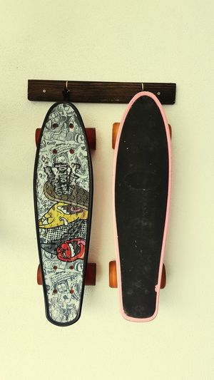 2 skateboard hanging on the wall Skateboards Skateboarding Skateboarders Skate Life EyeEm Selects Ink Close-up